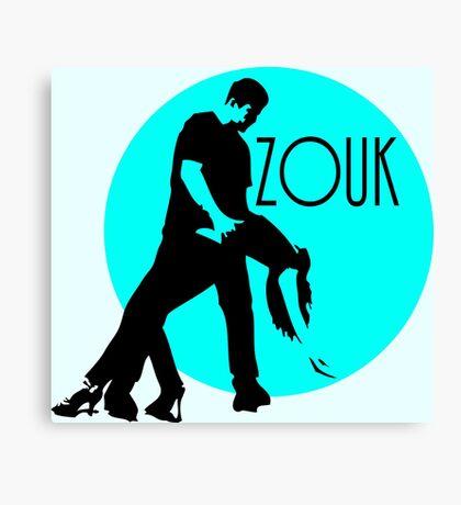 zouk dancers - blue moon Canvas Print