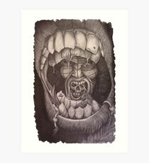 Into the mouth of madness Art Print