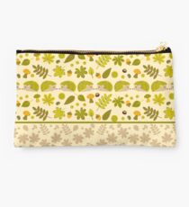 Hedgehogs in the Green Fall Studio Pouch