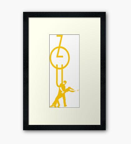 lets dance zouk - yellow Framed Print