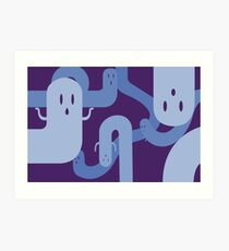 Loopy Ghosts Art Print