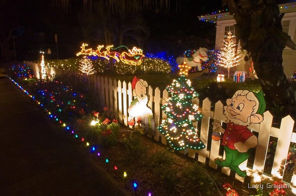Sidewalk christmas by Larry  Grayam