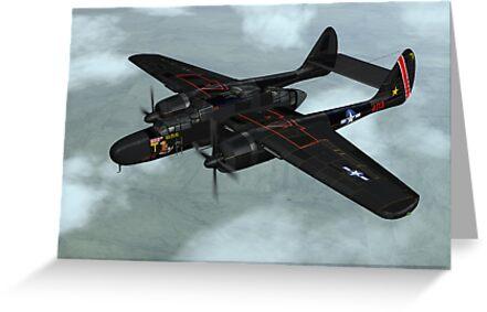 Northrop P-61 Black Widow by Walter Colvin