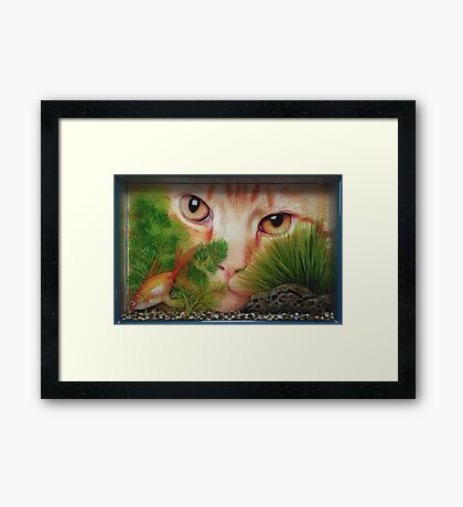 I know You're in There Framed Print