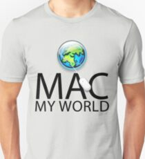 Mac My World Black Text T-Shirt