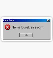 Burek Sticker