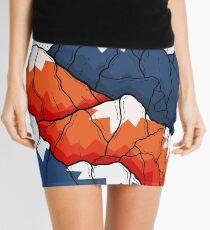 The blue and orange hills  Mini Skirt