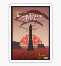 Visit the Brown Stone Spire Sticker