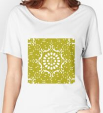 Gold background Women's Relaxed Fit T-Shirt