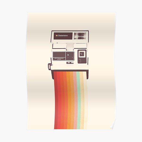 Instant Camera Rainbow Poster