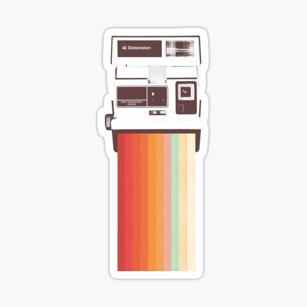 Instant Camera Rainbow Sticker