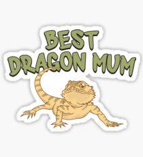 Best Dragon Mom - Funny Reptile Gift Glänzender Sticker