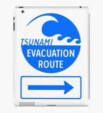 Tsunami Evacuation Route iPad Case/Skin