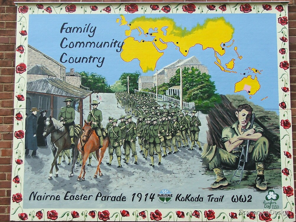 Nairne Easter Parade Mural 1914 by ScenerybyDesign