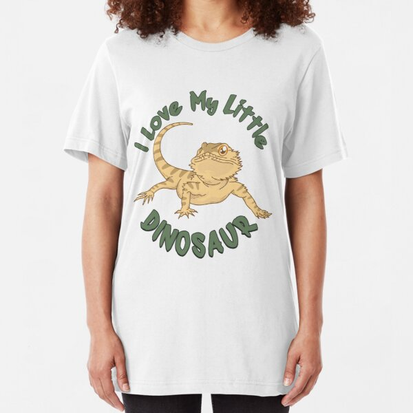 I Love My Little Dinosaur - Funny Reptile Gift Slim Fit T-Shirt