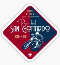 Saint Gotthard Pass Switzerland T-Shirt + Aufkleber Sticker