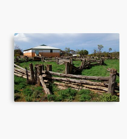 Historic Pastrol Shearing Shed, Canopus Canvas Print