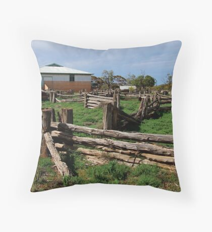Historic Pastrol Shearing Shed, Canopus Throw Pillow