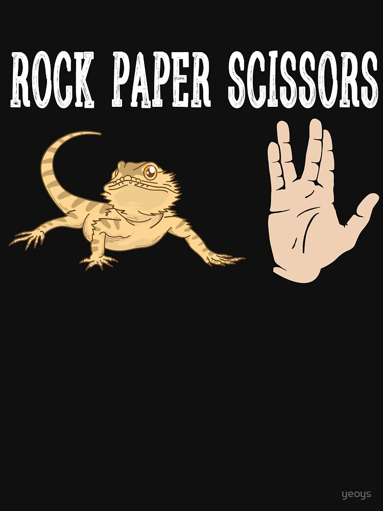 Rock Paper Scissors Lizard  - Funny Reptile Gift von yeoys