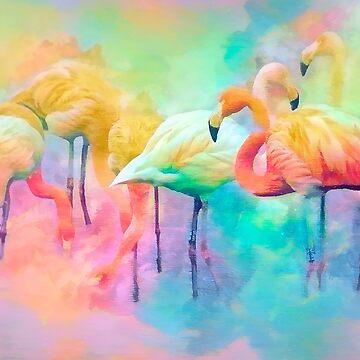 Flamingo Rainbow by Tarrby