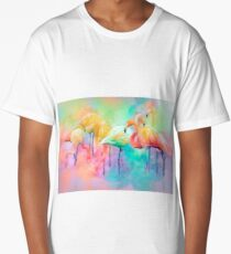 Flamingo Rainbow Long T-Shirt