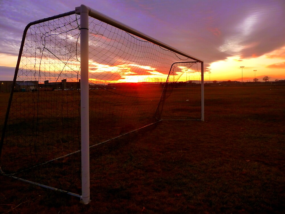 Soccer Field During Sunset by atoth