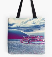sailing to the red island Tote Bag