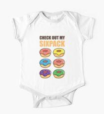 Cute Check Out My Six Pack Doughnut Abs Art Boys & Girls One Piece - Short Sleeve