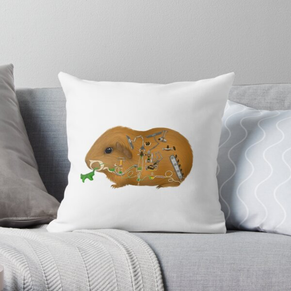 Guinea pig Factory Throw Pillow