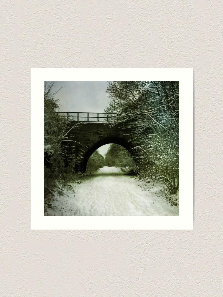 Alternate view of Winter Bridge Art Print