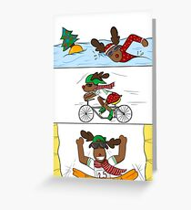 Christmathlon! Grußkarte