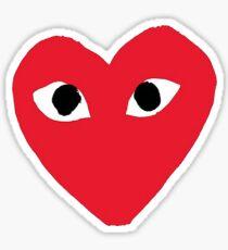 CDG Red Heart Sticker