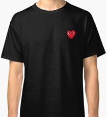 CDG rotes Herz Classic T-Shirt