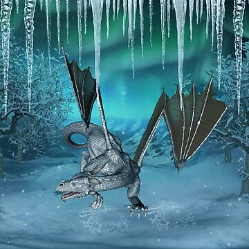 Wonderful ice dragon in the winter landscape by nicky2342