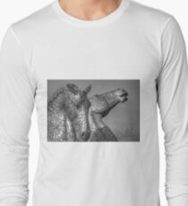 Kelpies - Black and White Long Sleeve T-Shirt