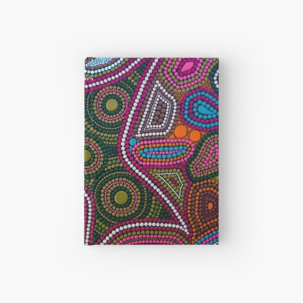 Abstract Dot Painting FAMILY by Dutch Artist Tessa Smits Hardcover Journal
