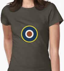 Spitfire Marking Yellow. Womens Fitted T-Shirt