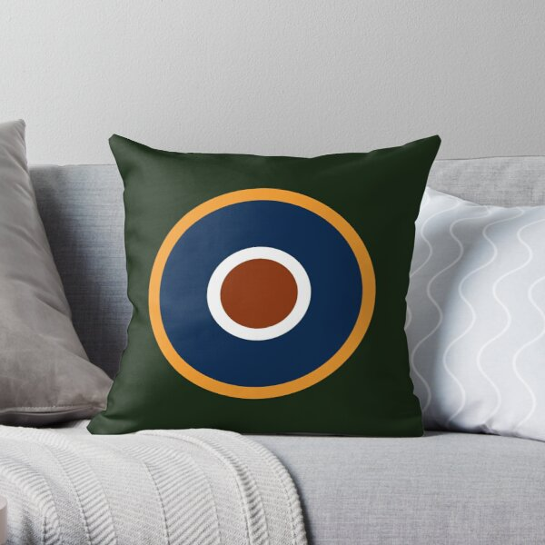 Spitfire Marking - Orange. Throw Pillow