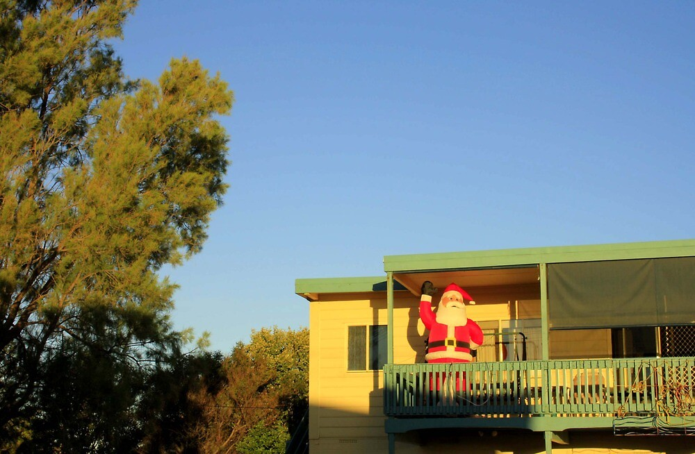 Father Christmas in Australia by Carissa Hubrechsen