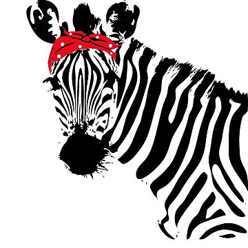 Zebra with Bandana by LuckyU-Design