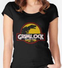 Grimlock (Jurassic Park) Women's Fitted Scoop T-Shirt