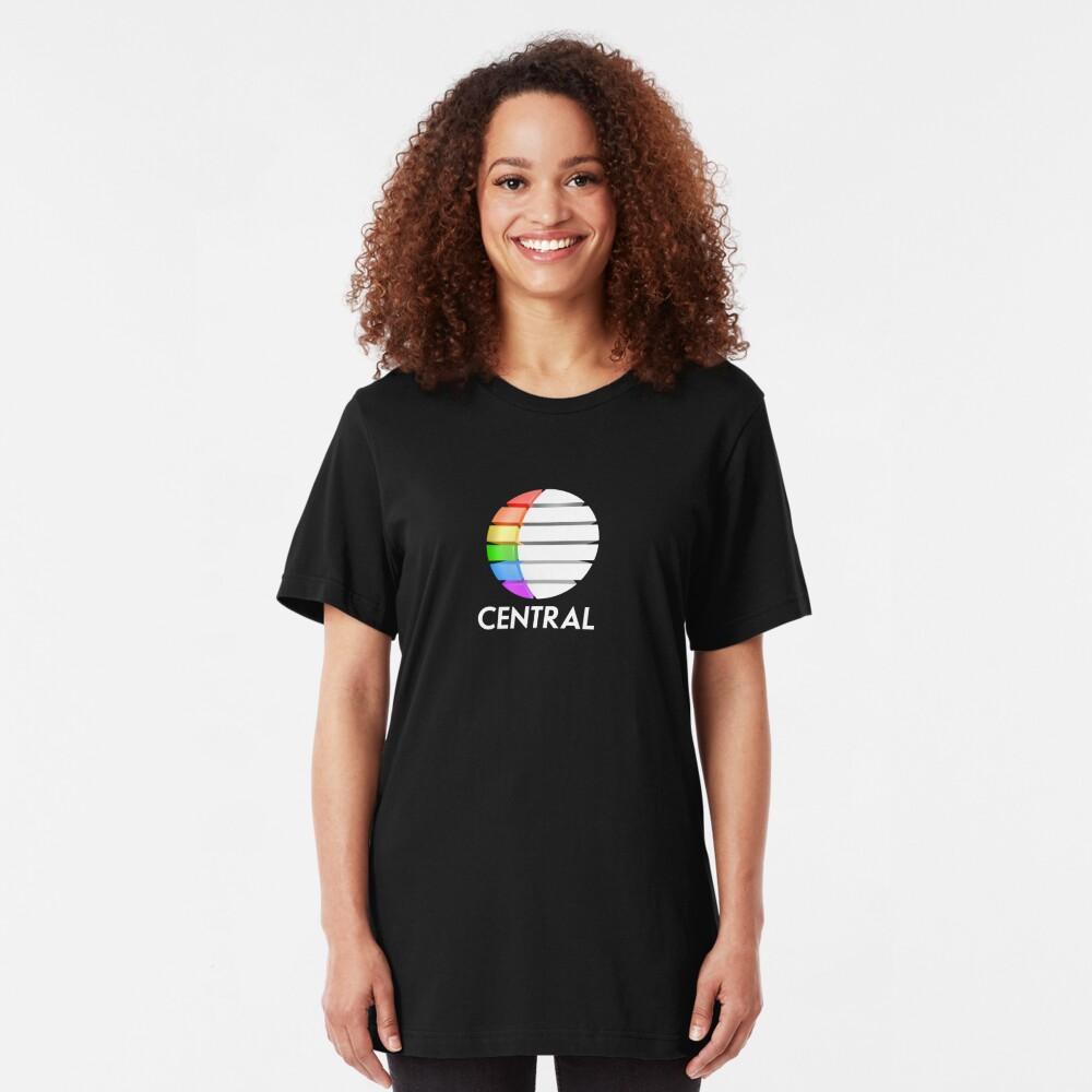 Central TV television 1980s retro logo 3D render  Slim Fit T-Shirt
