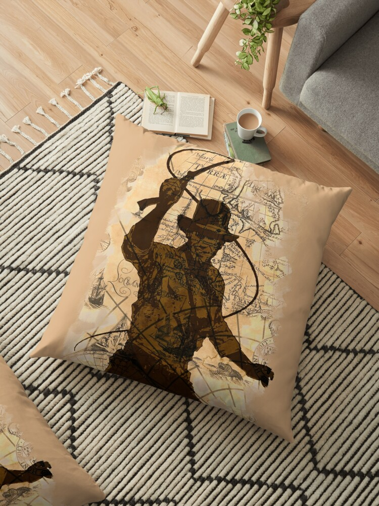 'Indiana Jones Treasure Map Tee' Floor Pillow by Elliot-Four on where's waldo world map, bomberman world map, barbie world map, planet of the apes world map, judge dredd world map, mickey mouse world map, dr seuss world map, dragonball z world map, 640 x 480 world map, resident evil world map, snake world map, bionicle world map, conan the barbarian world map, star wars world map, walking dead world map, black and white world map, dracula world map, plane travel world map, naruto world map, the viking world map,