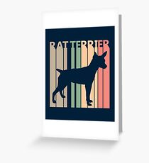 Rat Terrier Dog Silhouette Greeting Card