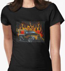 Kindermotiv Feuertruck  Tailliertes T-Shirt für Frauen