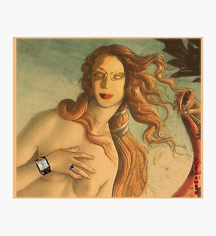 Venus with accessories....persevere is diabolical Photographic Print