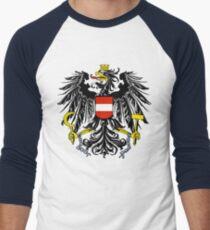 Coat of Arms of Austria Men's Baseball ¾ T-Shirt