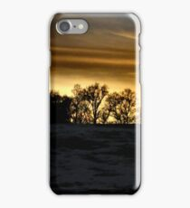 Sunset on a snowy day iPhone Case/Skin