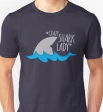 Crazy Shark lady Unisex T-Shirt