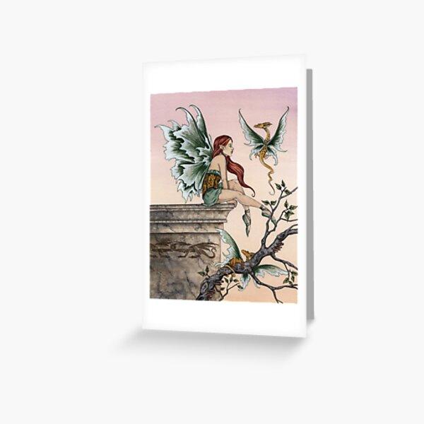 Golden Dragons Greeting Card